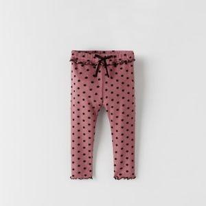 NWT 3-6 months Zara polka dot leggings